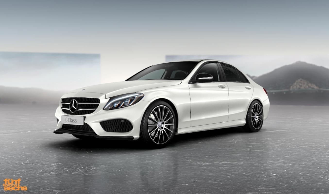 Das Night Paket (Code P55) für die neue Mercedes C-Klasse ...