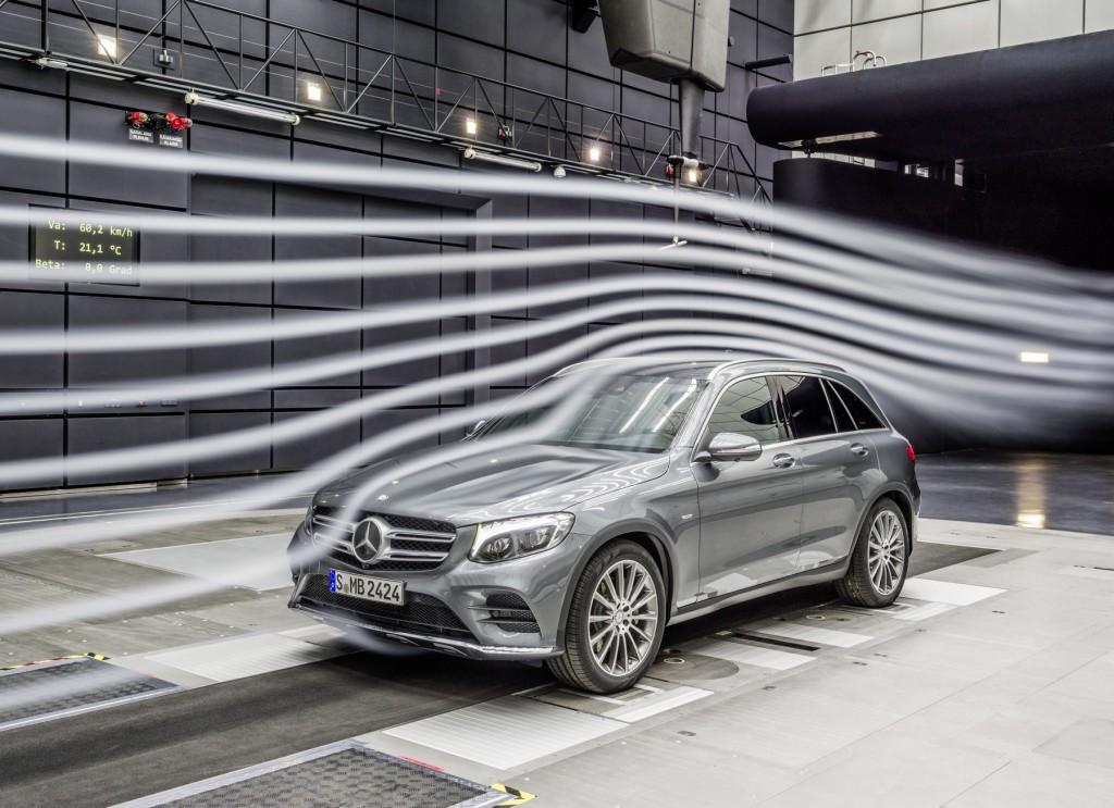 Mercedes-Benz GLC, Aerodynamik Test im Windkanal Mercedes-Benz GLC, aerodynamik testing in the wind tunnel