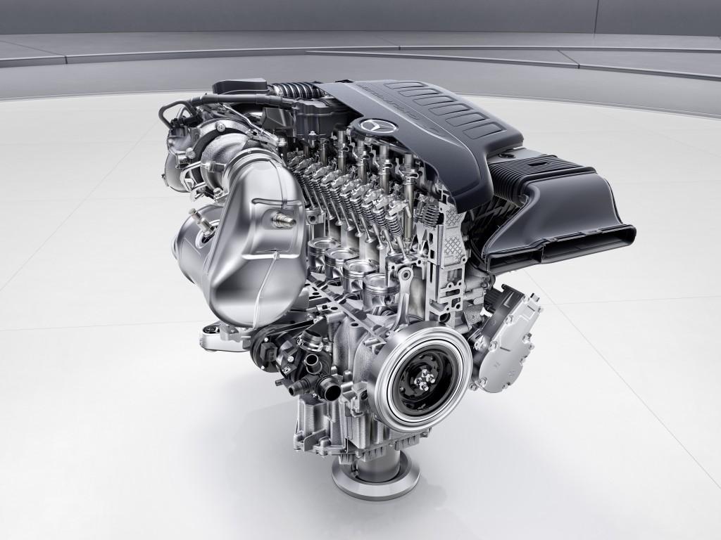 Mercedes-Benz Sechszylinder-Benzinmotor M256 // Mercedes-Benz six-cylinder engine M256. Engine cross section