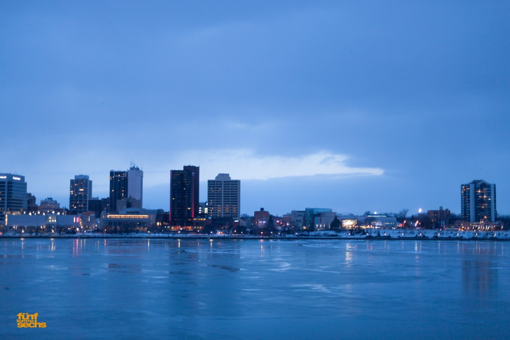 Blick in richtung Süden nach Windsor, das schon zu Kanada gehört