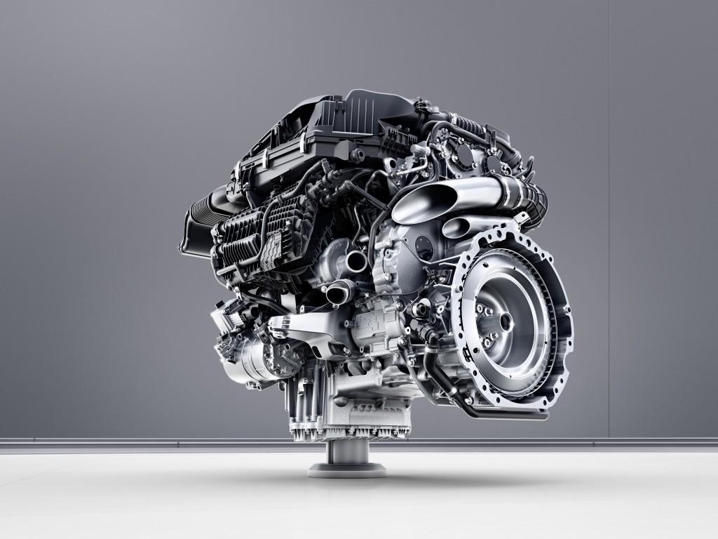 Mercedes-Benz Sechszylinder-Benzinmotor M256. Schnittmotor // Me