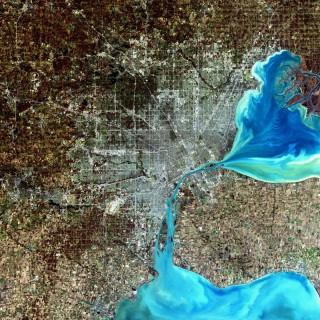 Blick von Landsat 7 auf Motown | Foto: NASA